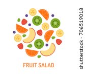 fruit circle. logo for the... | Shutterstock .eps vector #706519018