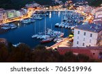the harbor in bonifacio  france ... | Shutterstock . vector #706519996