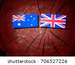 australian flag with british... | Shutterstock . vector #706527226
