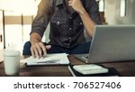 authentic image of a pensive... | Shutterstock . vector #706527406