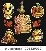 halloween illustration trick or ... | Shutterstock .eps vector #706529032