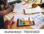 stylish fashion designer work... | Shutterstock . vector #706531822
