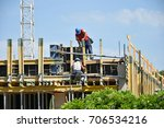 construction workers at work | Shutterstock . vector #706534216
