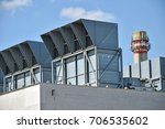 air filters and smoke stack of... | Shutterstock . vector #706535602