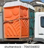 portable toilets on a vehicle | Shutterstock . vector #706536802