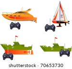 remote control toy ships in... | Shutterstock .eps vector #70653730