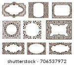 frames set for cards with... | Shutterstock .eps vector #706537972