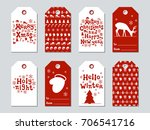 christmas and new year gift... | Shutterstock .eps vector #706541716
