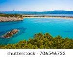 voidokilia beach in greece | Shutterstock . vector #706546732