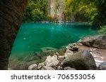 amazing emerald pool in lampang ... | Shutterstock . vector #706553056