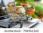internet online shopping and... | Shutterstock . vector #706561162