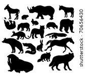 wildlife silhouettes  wild... | Shutterstock .eps vector #70656430
