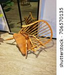 ruined wooden chair | Shutterstock . vector #706570135