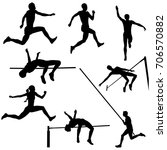 set track and field sports...   Shutterstock .eps vector #706570882
