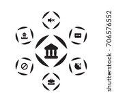 set of 7 media icons set...   Shutterstock .eps vector #706576552