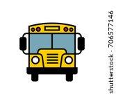 school bus colour vector icon   Shutterstock .eps vector #706577146