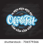 oktoberfest logotype. beer... | Shutterstock .eps vector #706579366