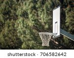 outdoor basketball with copy... | Shutterstock . vector #706582642