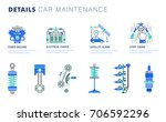 auto service. line composition. ...   Shutterstock .eps vector #706592296