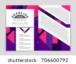 abstract vector layout... | Shutterstock .eps vector #706600792