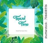 vector leaf design background | Shutterstock .eps vector #706608556