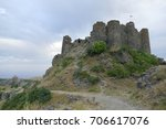 destroyed amberd fortress in... | Shutterstock . vector #706617076