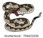 snake cobra tattoo style cobra...   Shutterstock .eps vector #706621036