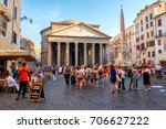 rome italy   july 19 2017   the ... | Shutterstock . vector #706627222