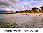 autumn on the beach | Shutterstock . vector #706627888
