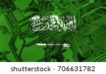 flag of saudi arabia  pictured... | Shutterstock . vector #706631782