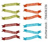 oktoberfest banners in bavarian ... | Shutterstock .eps vector #706636156