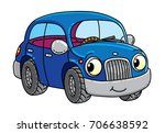 funny small car with eyes. | Shutterstock .eps vector #706638592
