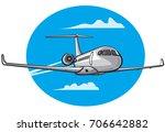 illustration of flying air... | Shutterstock .eps vector #706642882