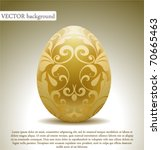 golden egg with floral... | Shutterstock .eps vector #70665463