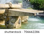 Small photo of the ebalia square fountain, in taranto, in the south of italy