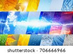 weather forecast concept... | Shutterstock . vector #706666966
