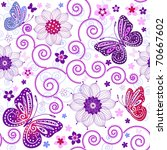 Floral Seamless Grunge Pattern...