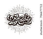 city los angeles  california.... | Shutterstock .eps vector #706677712