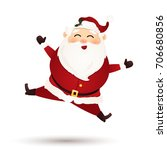 christmas cute santa claus... | Shutterstock .eps vector #706680856