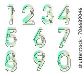 element  set of ten numbers... | Shutterstock .eps vector #706689046