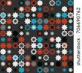 geometric pattern design  | Shutterstock .eps vector #706690762