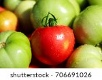 closeup shot of red and green... | Shutterstock . vector #706691026
