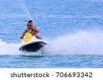 jet ski on the sea in kor samui ...   Shutterstock . vector #706693342