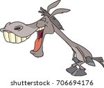 cartoon donkey laughing at