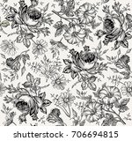 seamless pattern. beautiful... | Shutterstock .eps vector #706694815