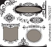 Vector Set  Wrought Iron...