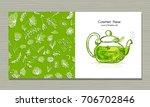 greeting cards design  herbal... | Shutterstock .eps vector #706702846