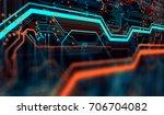 abstract technological... | Shutterstock . vector #706704082