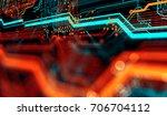 abstract technological... | Shutterstock . vector #706704112