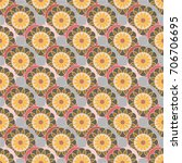 new color seamless pattern with ... | Shutterstock . vector #706706695